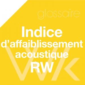 Indice d'affaiblissement acoustique Rw (C ; Ctr) (en dB)