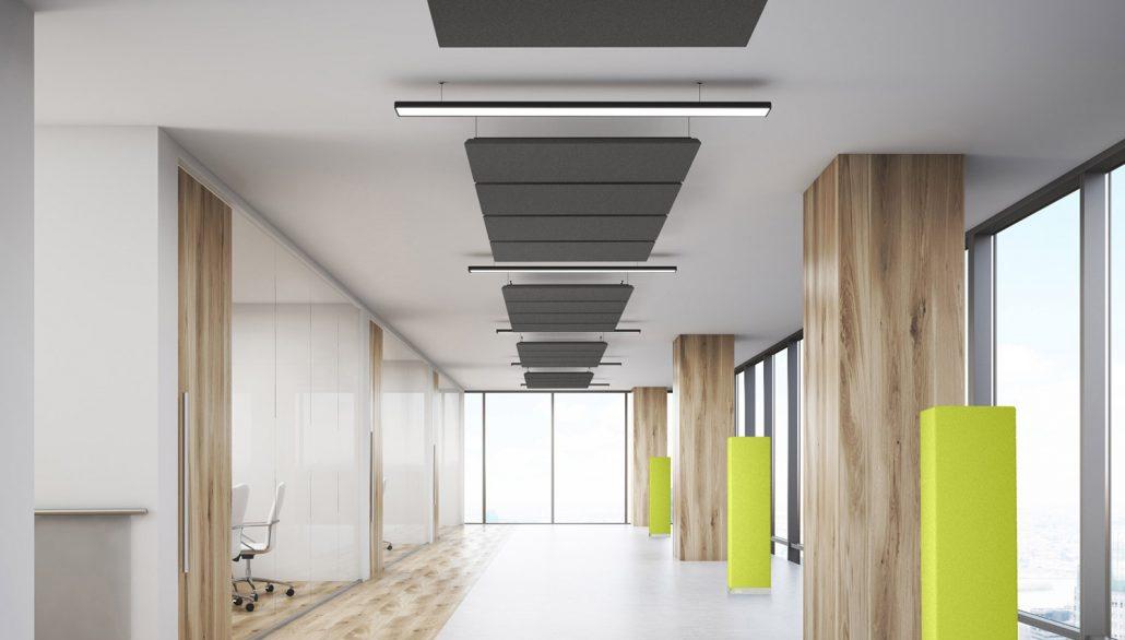 Le traitement acoustique des espaces de travail