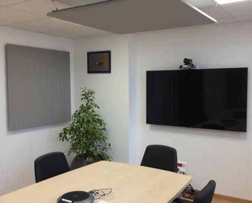 Panneaux acoustiques salle de réunion