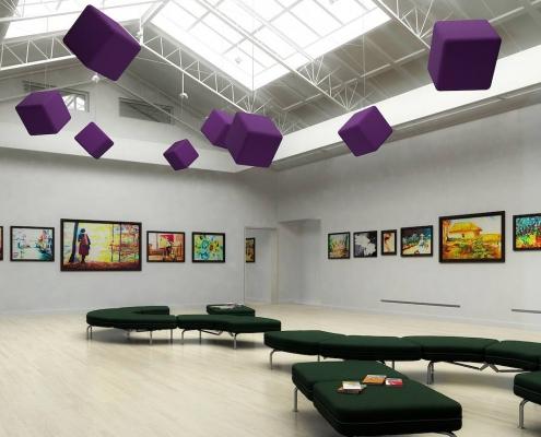 cube acoustique galerie d'art