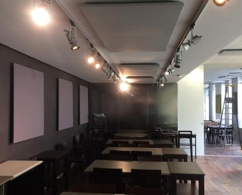 Panneau acoustique plafond gris